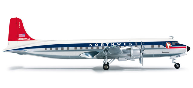 Northwest DC-6B (1:200) by Herpa 1:200 Scale Diecast Airliners