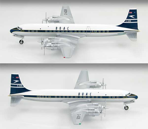 BOAC Douglas DC-7C, 1957 (1:200) by Hobby Master Diecast Airplanes