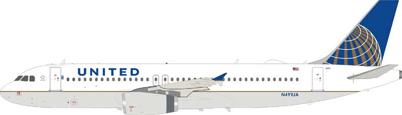 United Airlines Airbus A320-200 N491UA (1:200)