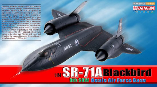 SR-71A Blackbird, 9th SRW Beale Air Force Base (1:144)