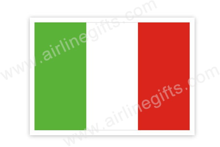 Italy Flag Patch (Iron On Applique) APP309