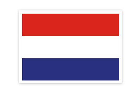 Netherland Flag Patch (Iron On Applique) APP313