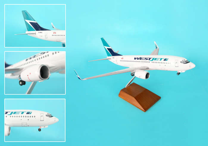 Westjet 737-700 With Wood Stand & Gear (1:100)