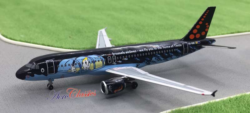 "Brussels Airlines A320 OO-SNB ""Tintin"" (1:400)"