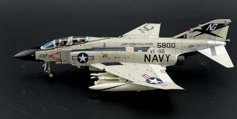 "F-4J Phantom II, USN VF-96 ""Fighting Falcons"" ""Showtime 100"", USS Constellation, 1972 (1:72) - Preorder item, order now for future delivery"