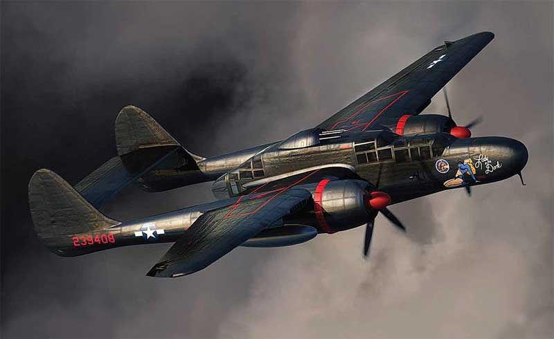 "P-61 Black Widow 548th Night Fighter Squadron ""Lady in the Dark"" (1:72)"
