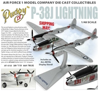 "P-38J Lightning, ""Pudgy IV"" 431st FS, 475th FG, Maj. Thomas McGuire (1:48) New Mould - Preorder item, order now for future delivery"