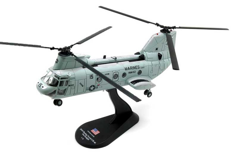 "CH-46 Sea Knight, HMM-163 ""Ridge Runners"" (""Evil Eyes""), U.S. Marines, 2010 (1:72)"
