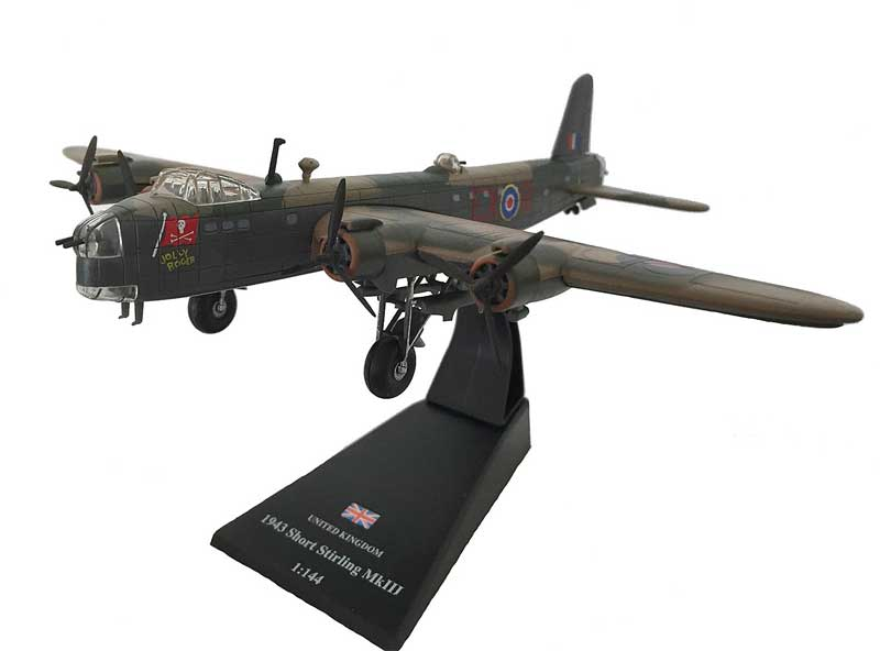 "Short Stirling B Mk.III, ""Jolly Roger,"" No. 199 Squadron, 100 Group, Royal Air Force, 1943 (1:144) - Preorder item, order now for future delivery"