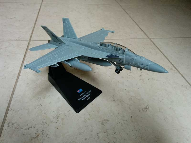 "F/A-18F Super Hornet, 1 Squadron, RAAF, Amberley, 2010 ""Australia's first F/A-18"" (1:100) - Preorder item, order now for future delivery"