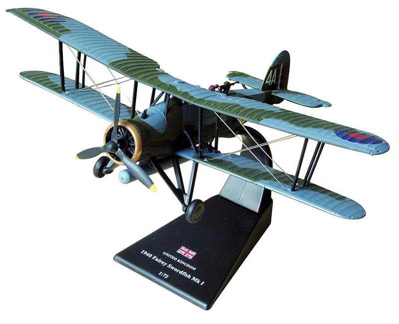 Fairey Swordfish Mk.I, Lt. Cmdr. Kenneth Williamson & Lt. Norman Scarlett, 815 Naval Air Squadron, HMS Illustrious, 1940 Raid on Taranto (1:72)
