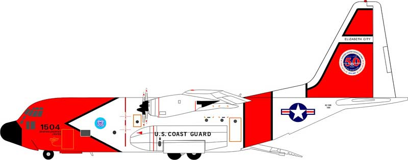 "C-130 U.S. Coast Guard ""1504"" Elizabeth City, 50 Years (1:200)"