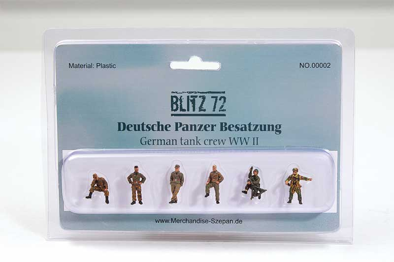 German Tank Crew Figures (1:72)