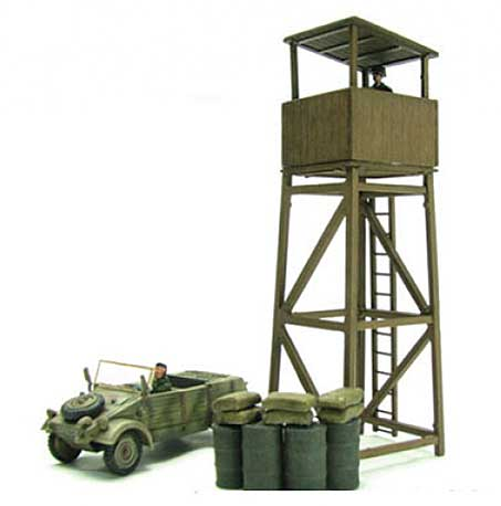 Kublewagen and Watch Tower (1:72) Diorama Set