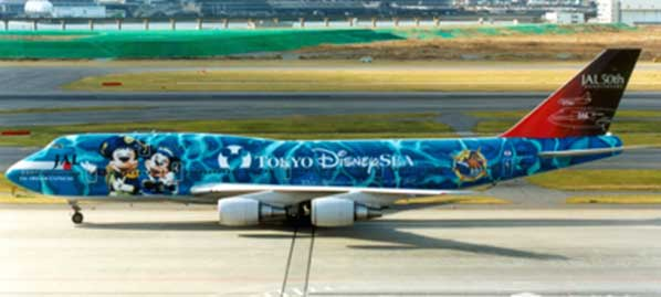 "JAL B747-400 ""No.4 Disney Sea"" JA8912 (1:200) - Preorder item, order now for future delivery"