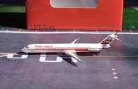 TWA Trans World DC-9-50, First Twin Stripe N408EA (1:400)