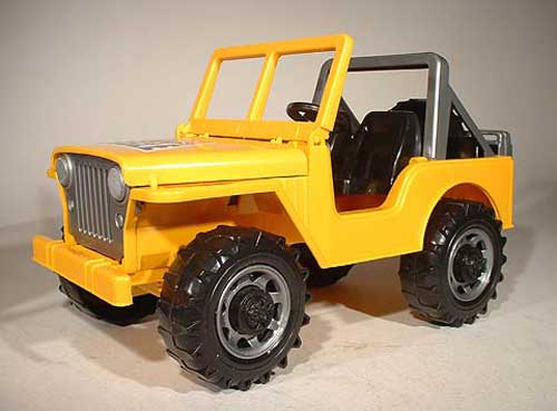 Cross Country Off-Road Vehicle in Yellow (Jeep) (1:16)
