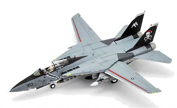 "F-14B Tomcat, VF-103 Jolly Rogers, AA201 ""Santa Cat"" USS George Washington (1:72)"