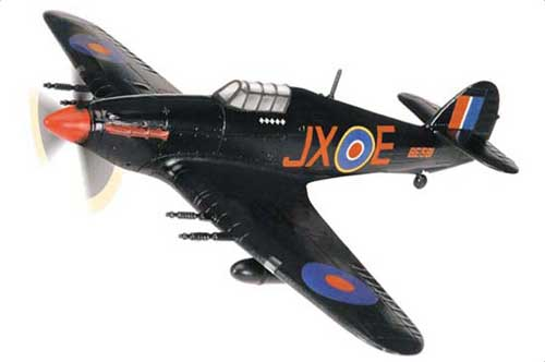 "Hawker Hurricane Mk II RAF No.1 Sqn, ""Night Reaper"", Karel Kuttelwascher, RAF Tangmere, England, April 1942 (1:72)"