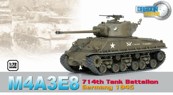 "M4A3E8 Sherman, 714th Tank Battalion, Germany 1945 ""St. Louis Blues"" (1:72)"