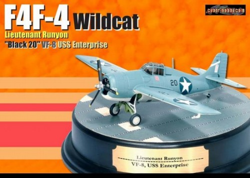 F4F-4 Wildcat, Black 20 VF-8 USS Enterprise Lt. Runyon (1:72)