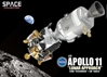 "Apollo 11 ""Lunar Approach"" CSM ""Columbia"" + LM ""Eagle"" (1:72 Scale)"