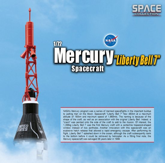 "Mercury ""Liberty Bell 7"" Spacecraft (1:72)"