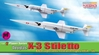Douglas X-3 Stiletto, NACA Supersonic Research FlightS 1954-56 (Contain 2 replicas) (1:144)