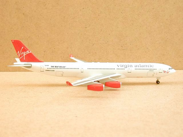 "Virgin Atlantic A340-300 ""No Way AA/BA"" Name: Jetstreamer, Reg: G-VAIR (1:400)"
