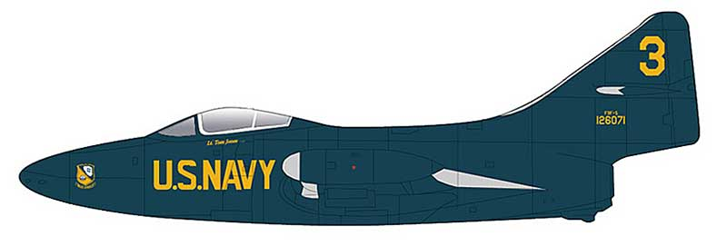 "F9F-5 Panther ""3,"" Blue Angels, 1953 (1:72)"