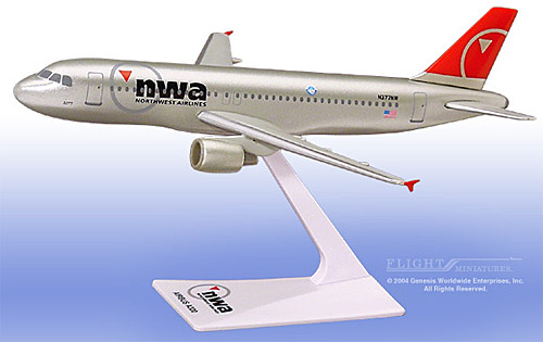 Northwest A320-200 (New Colors) (1:200)