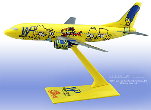 "Western Pacific 737-300 ""Simpsons"" (1:200)"