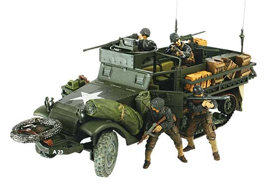 US Army M3A1 Half Track, Normandy, D-Day Invasion, 1944 (1:32)