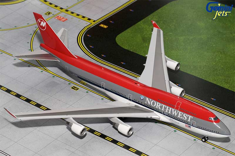 Northwest Airlines B747-400 Bowling Shoe Livery N675NW (1:200) - Preorder item, order now for future delivery