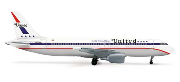 "United A320 ""85TH Anniversary"" (1:500)"
