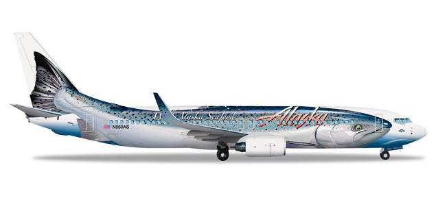 Alaska 737-800 (1:500) Salmon Thirty Salmon II N559AS