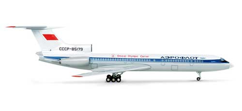 Aeroflot TU154 Official Olympic Carrier Moscow (1:200)