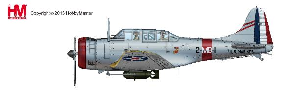 "Douglas SBD-1 Dauntless, ""BuNo 1597,"" Squadron Commander of VMB-2, US Marine Corps, San Diego, 1940 (1:32)"