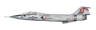"CF-104D Starfighter ""104651,"" Canadian Armed Forces (1:72)"