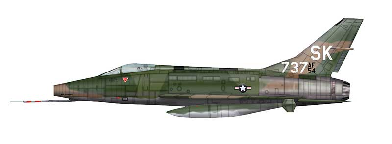 "F-100C Super Sabre, SK-737 ""Miss Mynookie"", 188th TFS, New Mexico ANG, Tuy Hoa Air Base, South Vietnam, 1968 (1:72)"