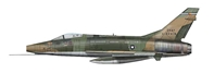 "F-100D Super Sabre, ""0-52816,"" 120th Tactical Fighter Squadron, Colorado Air National Guard (1:72)"