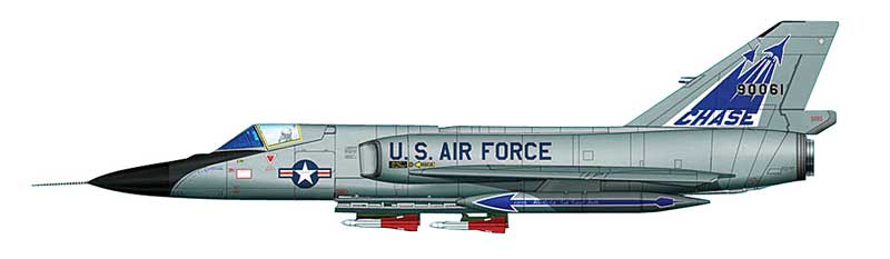 F-106A Delta Dart, B-1 Chase Program, Air Force Systems Command, Palmdale, California, 1986-90 (1:72)