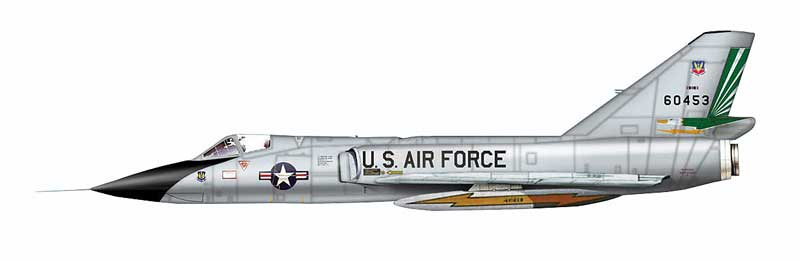 F-106A Delta Dart, BuNo 60453, 49th Fighter-Interceptor Squadron, Griffiss Air Force Base, New York 1986 (1:72)