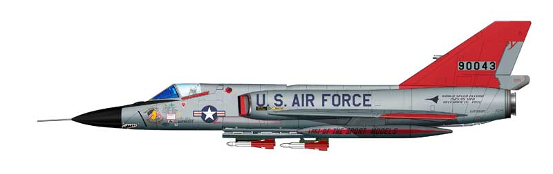 "F-106 Delta Dart, ""59-0043,"" ""The Last,"" 119th FIS, 1988  (1:72)"
