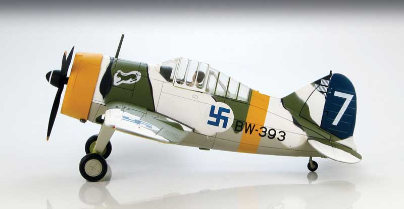"B-239 Buffalo, ""White 7,"" Lt. Hans Wind,  1/LeLv 24, Finnish Air Force, Suulajarvi Airbase, 1943 (1:48)"
