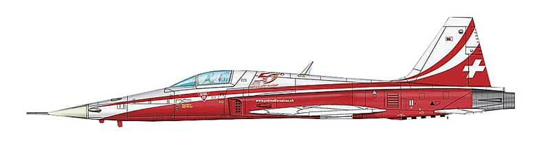 "F-5E Tiger II, Patrouille Suisse ""50 Year Anniversary"" (1:72)"