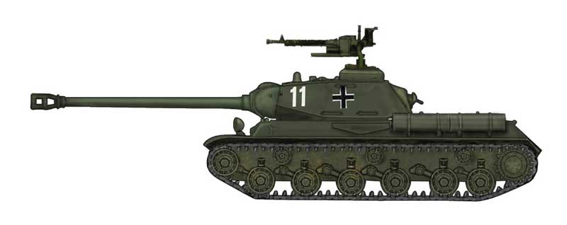 "JS-2 Heavy Tank Red Army, ""Prey Tank,"" WWII (1:72)"