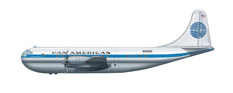 "Pan American Airlines Boeing 377 Stratocruiser, ""N1030V,"" (1:200)"