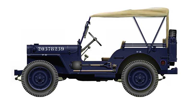 Willys Jeep MB, Air Police, USAF, 1950s(1:48)
