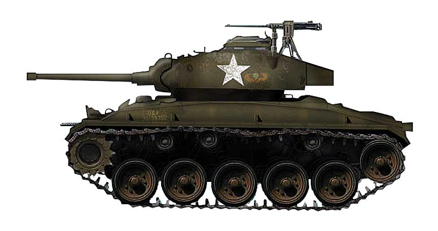 M24 Chaffee, 187th Airborne Regimental Combat Team, Yong-Dong-Po, April, 1951 (1:72)